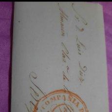 Sellos: ESPAÑA.COSARIOS.PREFILATELIA. CARTA (1845) DE CÁDIZ.JEREZ DE LA FRONTERA, CON MARCA DE BYC EN CÍRCUL. Lote 269790073