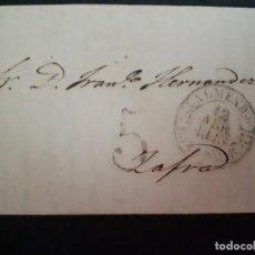 Sellos: PREFILATELIA.1843. CARTA COMPLETA, MARCA ALMENDRALEJO EXTREMADURA.. Lote 269972318