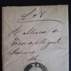 Sellos: PREFILATELIA.1879, CARTA CON SOBRE DEL GOBIERNO CIVIL DE BADAJOZ AL ALCALDE DE TORRE DE MIGUEL.. Lote 270124928