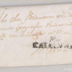Sellos: PREFILATELIA. CARTA ENTERA. 1832. MANRESA, A LOS REDACTORES DEL DICCIONARIO GEOGRÁFICO. VER NOTA. Lote 270254943