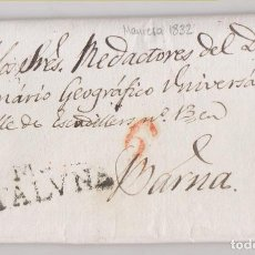 Sellos: PREFILATELIA. CARTA ENTERA. 1832. MANRESA, A LOS REDACTORES DEL DICCIONARIO GEOGRÁFICO. VER NOTA. Lote 270255863