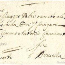 Sellos: 1697 PREFILATELIA CARTA LIEJA A BRUSELAS (TERRITORIOS ESPAÑOLES FLANDES) PRECURSORAS. MEDIO PORTE. Lote 270356783