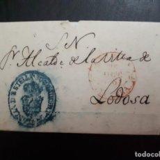 Sellos: PREFILATELIA.1891. CARTA DEL JUZGADO DE ESTELLA AL ALCALDE DE LODOSA.. Lote 270980123