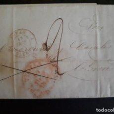 Sellos: PREFILATELIA.1845. CURIOSA CARTA COMPLETA DESDE TUDELA A OLERON (FRANCIA). Lote 271387663
