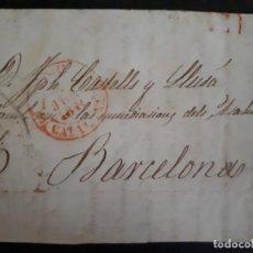 Sellos: PREFILATELIA 1844. FRONTAL BARCELONA.. Lote 271400813
