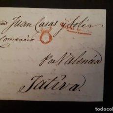 Sellos: PREFILATELIA. FRONTAL BARCELONA-JATIVA POR VALENCIA.. Lote 272282783