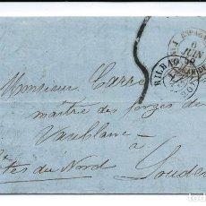 Sellos: D. P. N.º 11. CARTA CIRCULADA DE BILBAO A LOUDEAC FRANCIA EL AÑO 1859. Lote 272760343