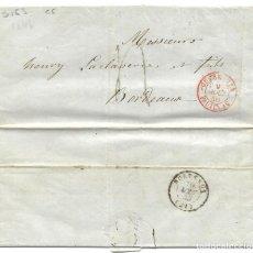 Sellos: 1846 CARTA PREFILATELIA CUBA A BURDEOS, FRANCIA. CORREO MARÍTIMO. PAQUEBOTES FRANCESES. Lote 273725103