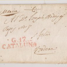 Francobolli: PREFILATELIA. CARTA ENTERA. GIRONA A TORDERA, BARCELONA. MANUSCRITO MARINA. 1817. Lote 275331738
