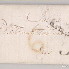 Francobolli: PREFILATELIA. CARTA ENTERA. OVIEDO, ASTURIAS, A VIGO. GALICIA. 1819. PORTEO RECTIFICADO. Lote 275333568