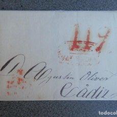 Sellos: PREFILATELIA ENVUELTA DE CARTA MARCA DE ALCOY Y BAEZA DE CÁDIZ 24/07/1842 PORTEO 11. Lote 275918333