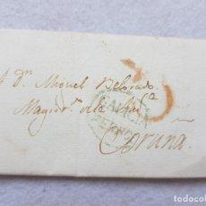 Sellos: FERROL GALICIA CORUÑA CARTA COMPLETA AÑO 1823. Lote 276260683