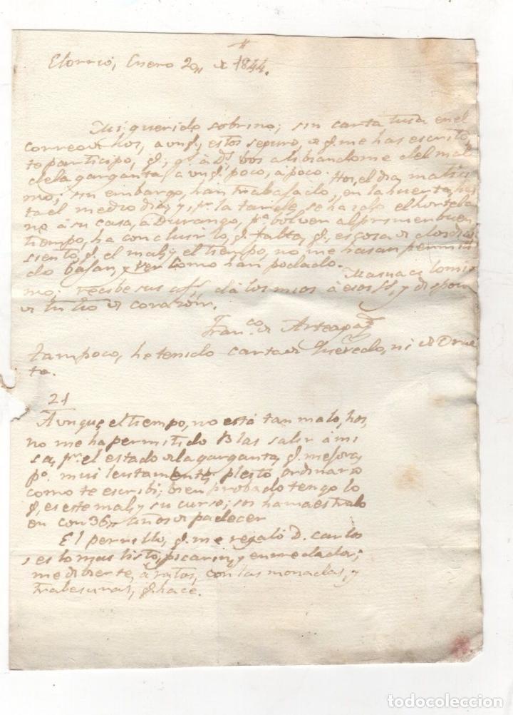 Sellos: SOBRE PREFILATELIA ELORRIO, BIZKAIA A TOLOSA, GIPUZKOA. AÑO 1844 - Foto 2 - 277028318