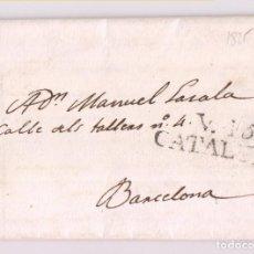 Sellos: PREFILATELIA. CARTA ENTERA. REUS, TARRAGONA. 1825. MARCA VILAFRANCA DEL PENEDÉS, BARCELONA. Lote 277536913