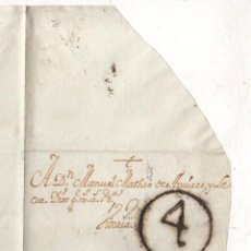 Sellos: SOBRE PREFILATELIA MADRID A MONDRAGON, GIPUZKOA. AÑO 1776. RARO. Lote 277698368
