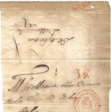 Sellos: 1848 CARTA ENVUELTA PREFILATELIA CUBA. FECHADOR ROJO GUANABACOA. PLICA. Lote 278283658
