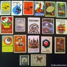 Selos: LOTE DE 18 VIÑETAS CONMEMORATIVAS DE CELEBRACIONES Y EVENTOS ESPAÑOLES. Lote 286736373