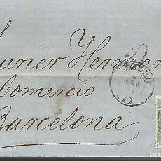 Sellos: ESPAÑA 2 CARTAS COMPLETAS ESCR¡TAS EN 1873 DIRIGIDAS DE MADRID A BARCELONA. Lote 292292688