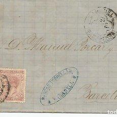 Sellos: ESPAÑA.CARTA ESCRITA EN 1879 Y DIRGIDA DE SABADELL A BARCELONA. Lote 292299158