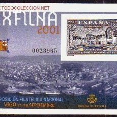 Sellos: ESPAÑA EDIFIL PL 75*** - AÑO 2001 - EXPOSICION FILATELICA NACIONAL EXFILNA 2001 VIGO. Lote 25639086