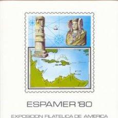 Sellos: DOCUMENTO FILATELICO F.N.M.T. Nº12 1980 ESPAMER-80 EXPOSICION FIL.AMERICA/ EUROPA. Lote 4495571
