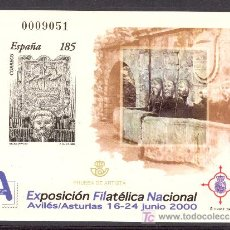 Sellos: ESPO72-L2158TARSC. ESPAÑA .PRUEBA OFICIAL 72.EXPOSICION FILATELICA. EXFILNA 2000. AVILES. (ED PO72) . Lote 19899240