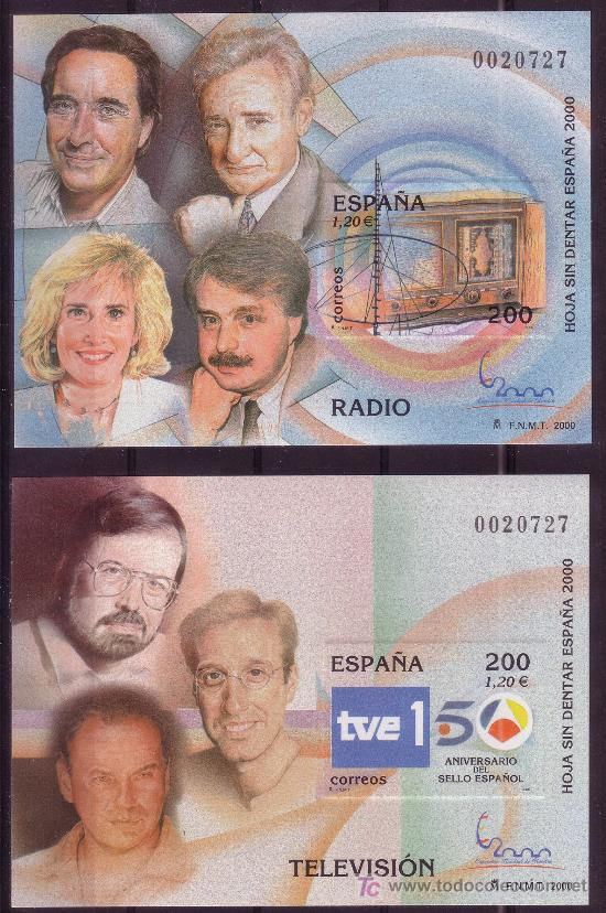 Sellos: ESPAÑA 3756/66*** - SIN DENTAR - AÑO 2000 - EXPOSICION MUNDIAL DE FILATELIA - Foto 2 - 25916378