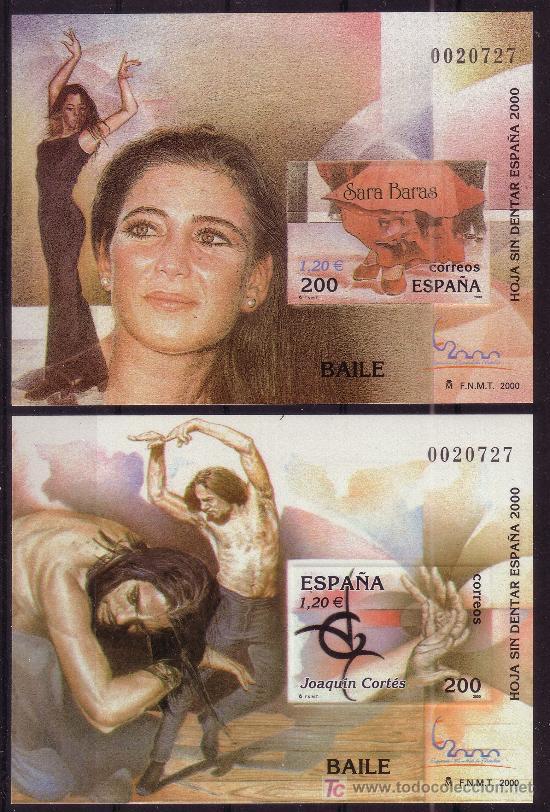 Sellos: ESPAÑA 3756/66*** - SIN DENTAR - AÑO 2000 - EXPOSICION MUNDIAL DE FILATELIA - Foto 5 - 25916378