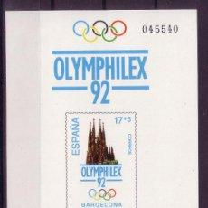 Sellos: ESPAÑA EDIFIL PL 26*** - AÑO 1992 - EXPOSICION FILATELICA INTERNACIONAL OLIMPICA OLMPHILEX 92. Lote 24604534