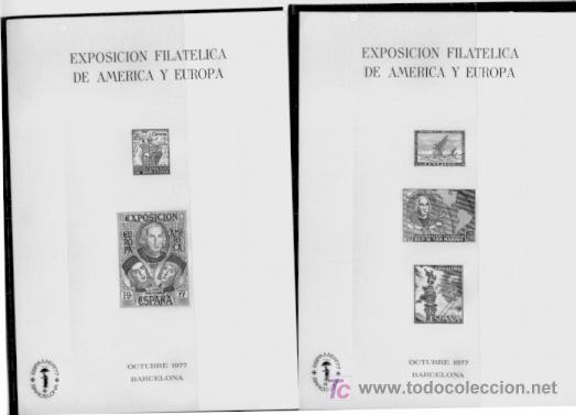 HOJA RECUERDO ESPAMER 77, PRUEBAS EN NEGRO, ENVIO GRATIS (Sellos - España - Pruebas y Minipliegos)