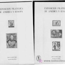 Sellos: HOJA RECUERDO ESPAMER 77, PRUEBAS EN NEGRO, ENVIO GRATIS. Lote 6858504