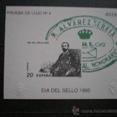 Sellos: EDIFIL PRUEBA DE LUJO Nº 4 - DIA DEL SELLO 1990 (PERFECTA). Lote 22263712