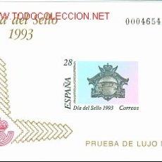 Sellos: PRUEBA OFICIAL * DIA DEL SELLO 1993 *. Lote 27129807
