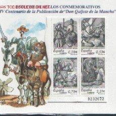 Sellos: ESTUCHE DE SELLOS CONMEMORATIVOS IV CENTENARIO DE LA PUBLICACION DE DON QUIJOTE DE LA MANCHA. Lote 179147795