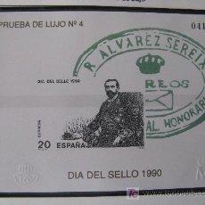 Sellos: PRUEBA DE LUJO Nº 4,DIA DEL SELLO 1990. Lote 27519213