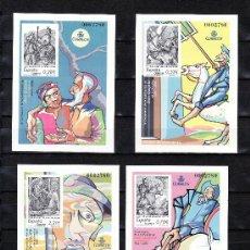 Sellos: ESPAÑA PRUEBA 86/9 MISMO Nº, IV CENTº PUBLICACION INGENIOSO HIDALGO DON QUIJOTE DE LA MANCHA. Lote 30039980