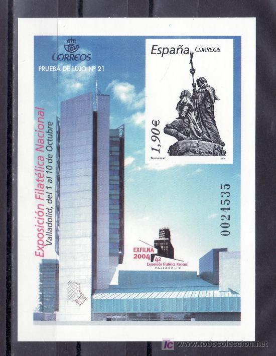 ESPAÑA PRUEBA 84, EXPOSICION FILATELICA NACIONAL EXFILNA 2004, VALLADOLID (Sellos - España - Pruebas y Minipliegos)