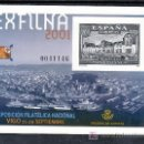 Sellos: ESPAÑA PRUEBA 75, EXPOSICION FILATELICA NACIONAL EXFILNA 2001, VIGO. Lote 16426210