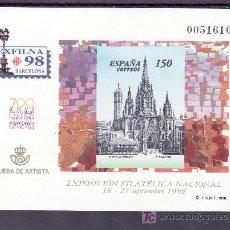 Sellos: ESPAÑA PRUEBA 66, EXPOSICION FILATELICA NACIONAL EXFILNA 98, BARCELONA. Lote 16372296