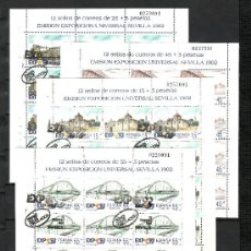 Sellos: ESPAÑA 3100/3 MINIPLIEGO 24/7 PRIMER DIA SEVILLA CON GOMA, EXPO 92, EXP. UNIVERSAL SEVILLA 1992. Lote 103337520