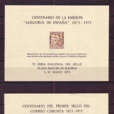 Sellos: ESPAÑA HR 7/8 - AÑO 1973 - CENTENARIO DE LOS SELLOS DE I REPUBLICA Y CORREO CARLISTA. Lote 19169826
