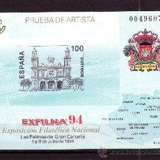Sellos: ESPAÑA PL 33*** - AÑO 1994 - EXPOSICION FILATELICA NACIONAL EXFILNA 94 - LAS PALMAS DE GRAN CANARIA. Lote 22070684
