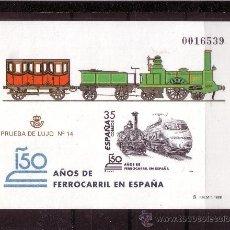 Sellos: ESPAÑA PL 67*** - AÑO 1998 - TRENES - 150º ANIVERSARIO DEL FERROCARRIL EN ESPAÑA. Lote 22130228