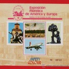 Sellos: ESPAÑA - HOJITA RECUERDO - ESPAMER 80 - EXP. FIL.- SAFETY COLOUR - 1 HOJA .- NUEVA - AÑO 1980. Lote 22313403