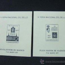 Sellos: 2 HOJITAS EN NEGRO - X FERIA NACIONAL DEL SELLO - 1.977 - NUMERADAS - Nº 1130 - . Lote 26501228