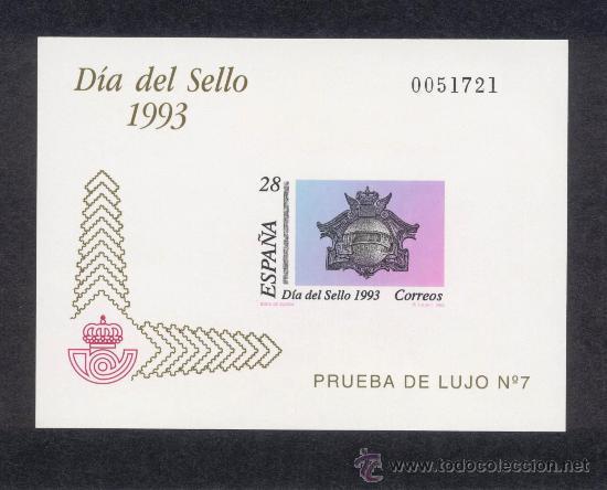 PRUEBAS OFICIALES DE LUJO Nº 28 DIA DEL SELLO 1993 (Sellos - España - Pruebas y Minipliegos)