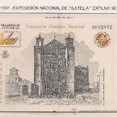 Sellos: PRUEB OFICIAL 27. EXFILNA´92. VALLADOLID. PRUEBA DE ARTISTA.. Lote 26500599