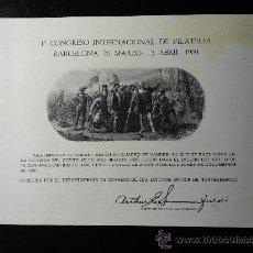 Sellos: PRIMER CONGRESO INTERNACIONAL DE FILATELIA PRUEBA DEL DEPARTAMENTO DE CORREOS DE EEUU 1960 RARO. Lote 30524221
