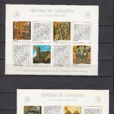 Sellos: HOJA RECUERDO HISTORIA CATALUÑA SIN Nº (12/3) SIN DENTAR SIN CHARNELA, SALON INTERNACIONAL AUTOMOVIL. Lote 30582782