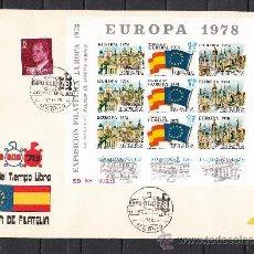 Sellos: HOJA RECUERDO XI FERIA SELLO, EXP. FIL. EUROPA 1978 SIN DENTAR EN SOBRE MATº MADRID 3/3/78 EXPO OCIO. Lote 34556112